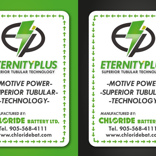 Create product decal for up and coming battery company