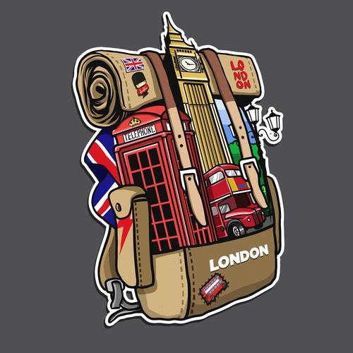 London traveler sticker