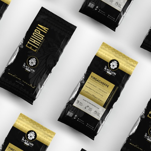 Premium The Black Lion Coffee Bag