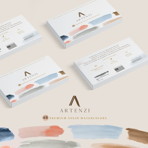 Watercolors packaging