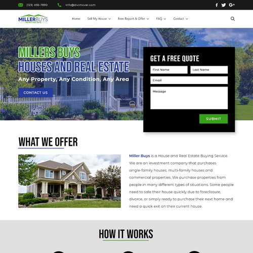 Miller Buys Website Design
