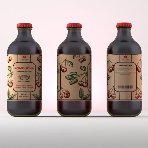 Kambucha Label Design
