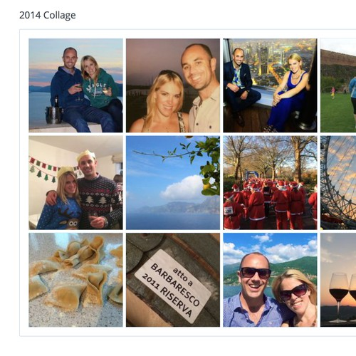create a photo collage for anniversary present