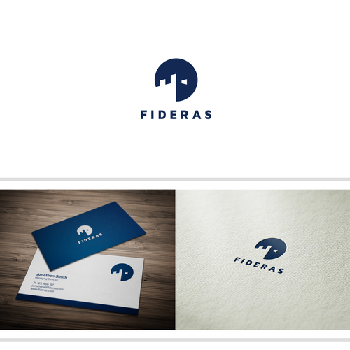 Create a modern abstract logo for a new financial services company