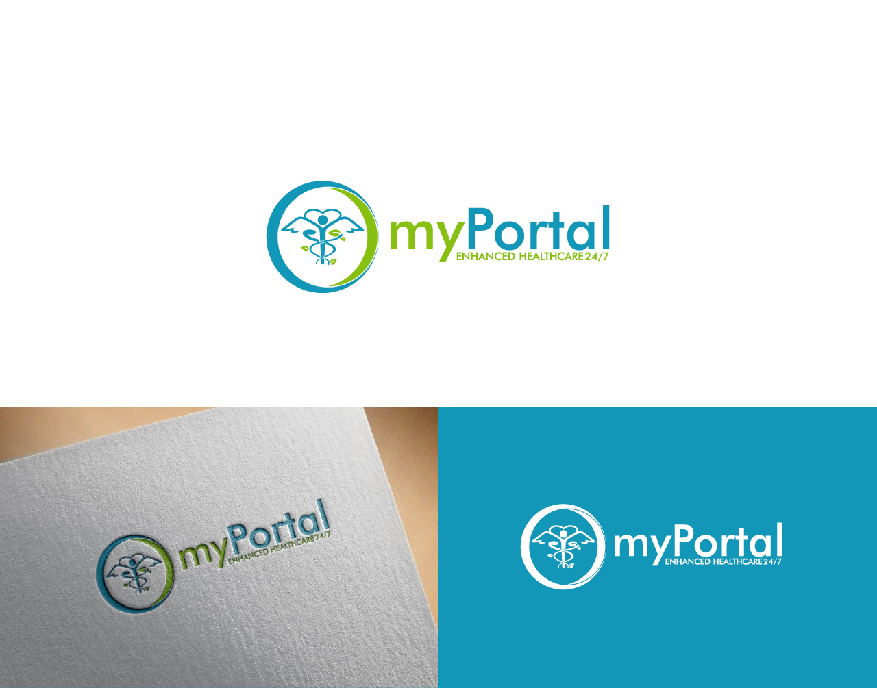Create a new logo for our Patient Portal to compliment our existing brand