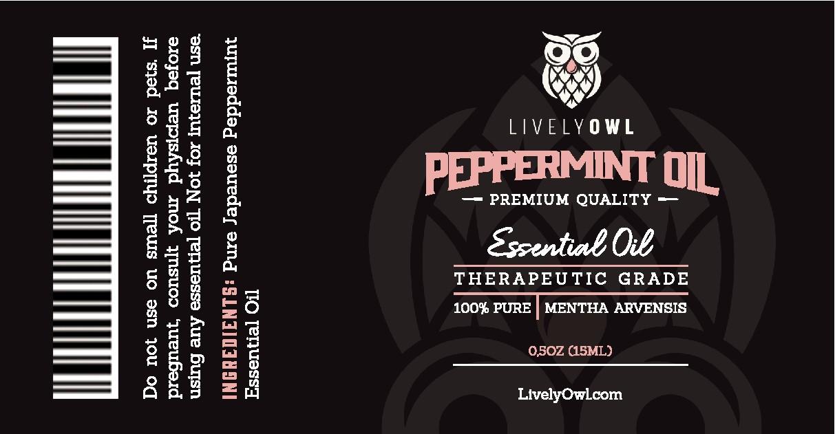 Peppermint Oil Label
