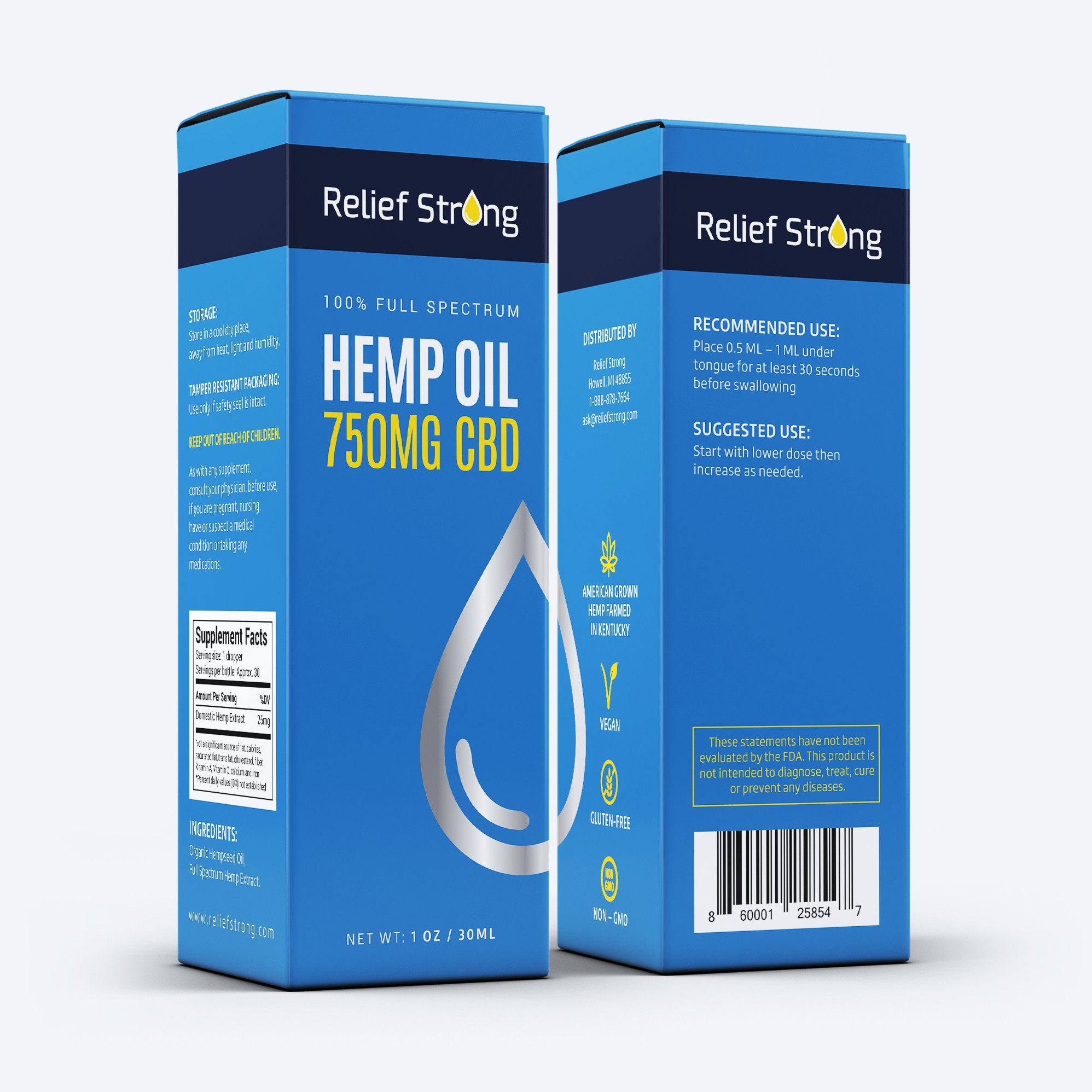 Relief Strong Box and Corresponding Label