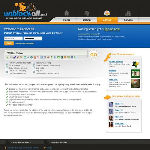 2008 - Site design for proxy service