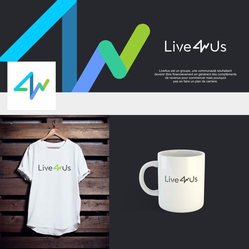 """Logo pour la communauté """"Live4us"""""""