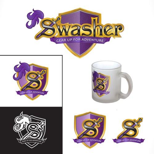 Logo design for foam swords
