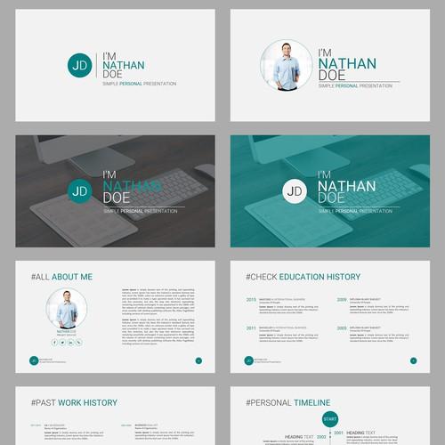 Personal presentation template