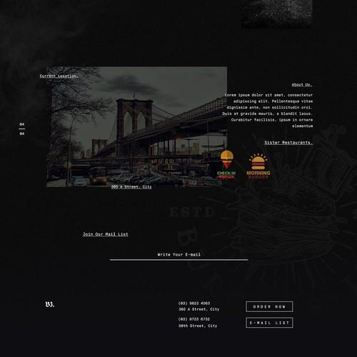 Burger Ink. Final Concept