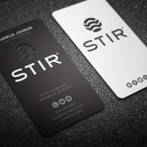 Business cards for STIR
