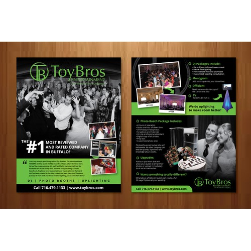 Wedding DJ/Photo Booth Flyer (Hand out at Bridal Shows -every photo provided)