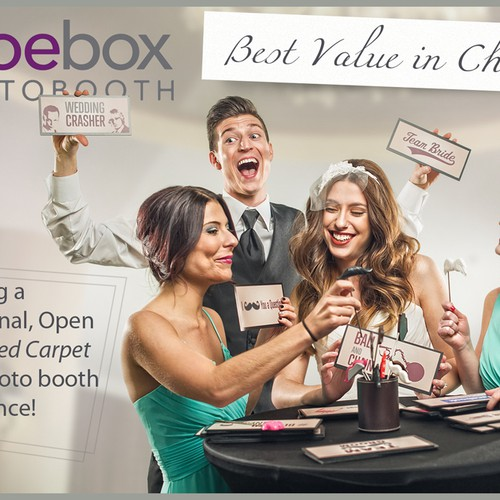 Create a flyer that is crisp & eye catching for Shoebox Photobooth