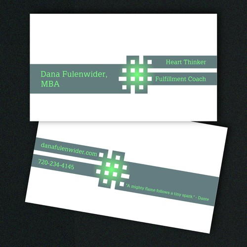 Please create a clean and captivating business card for the purpose of drawing clients to help unlock their possibilitie