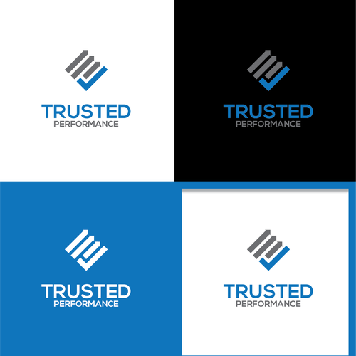 Clever logo for Trusted Performance. Unsold