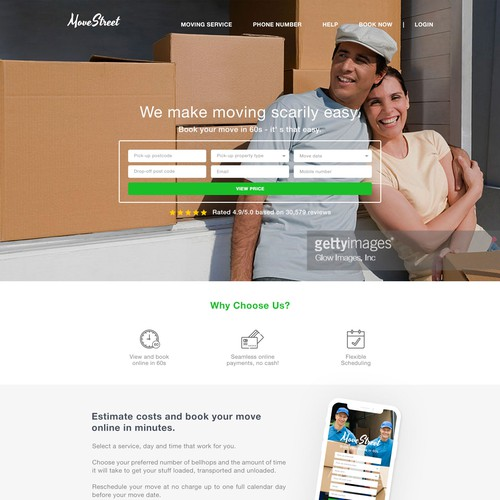 Moving Service Website design