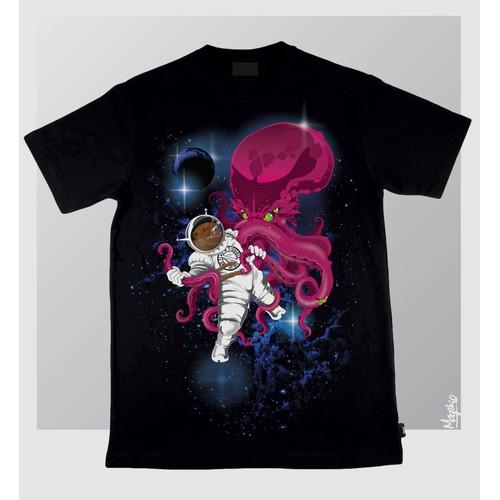 Bear Astronaut Fights Galactic Octopus