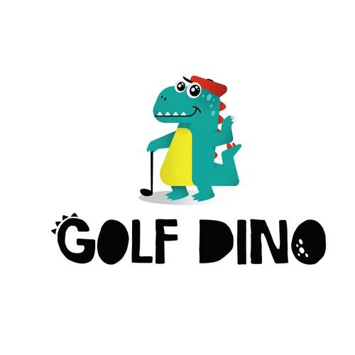 logo concept for golf Dino