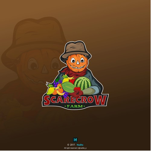 Logo for Scarecrow farm