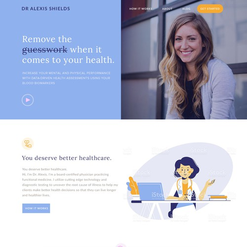 Concierge doctor website design