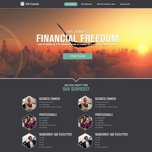Help GCA Financial with a new website design