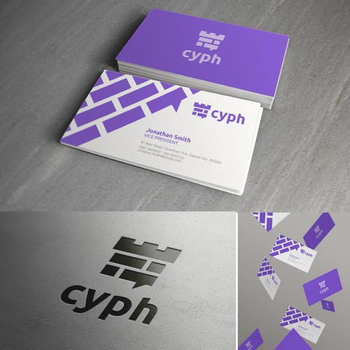 Create a clever logo & business card for secure messaging app CypherChat