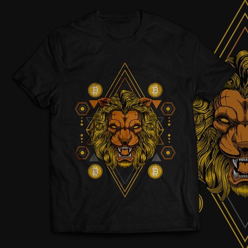 T-shirt design for crypto wear brand