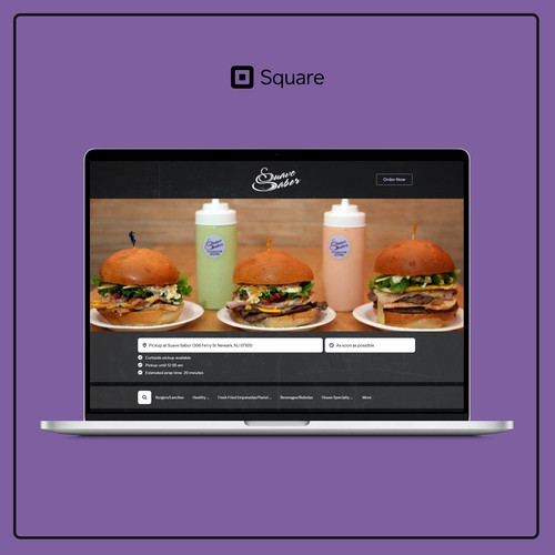 Online ordering page for a Brazilian diner in New Jersey