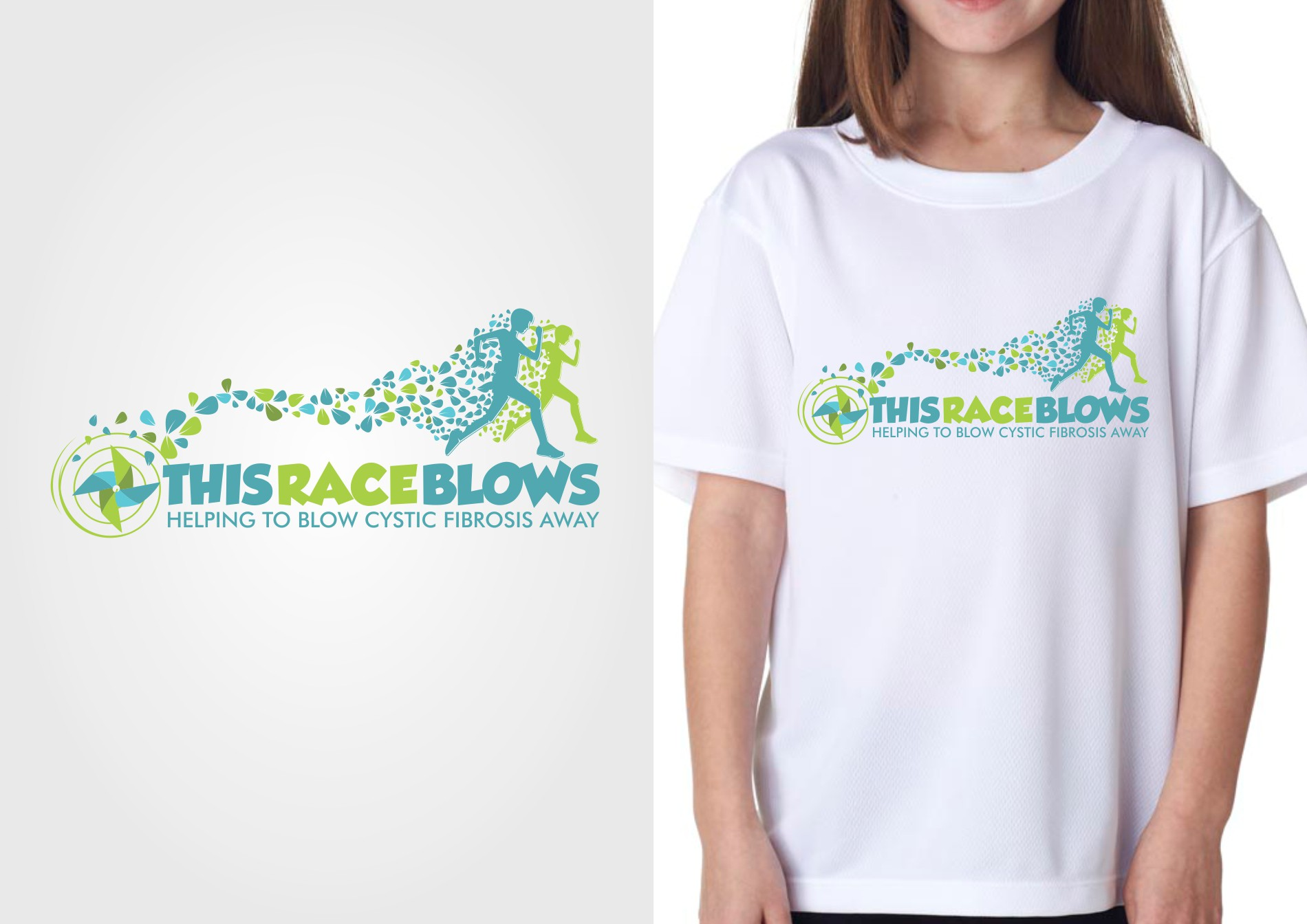 Create a fun T-shirt design for This Race Blows