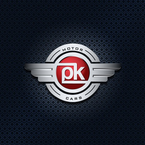 Create the next logo for PK Motor Cars