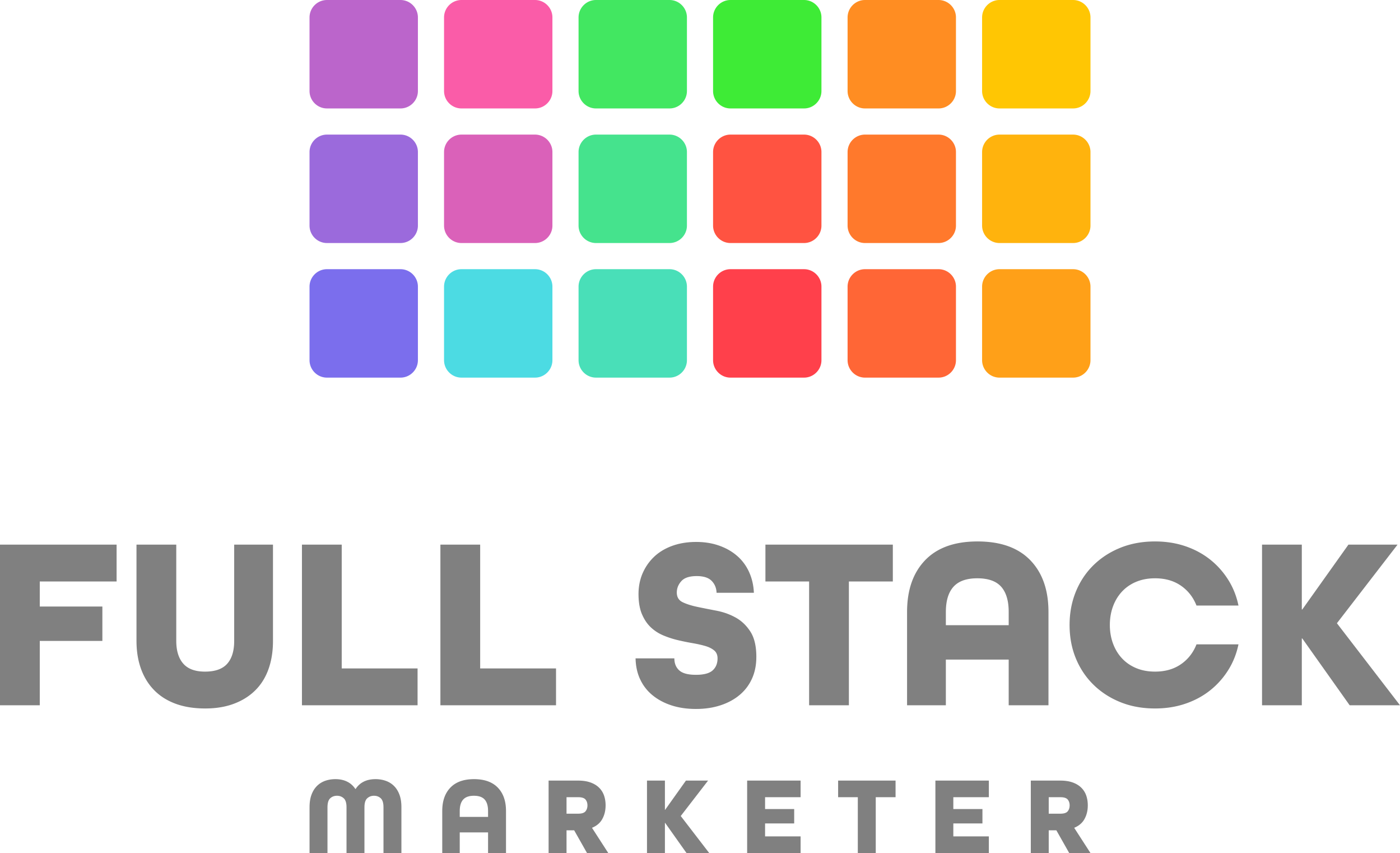 Build a colorful logo for the first full stack marketing course =)