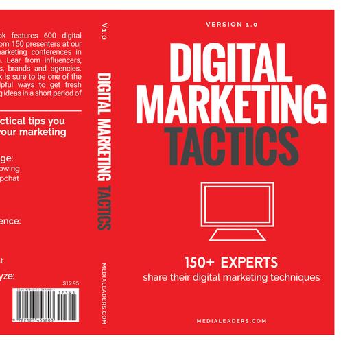 Bookd cover design for Digital Marketing Tacitics