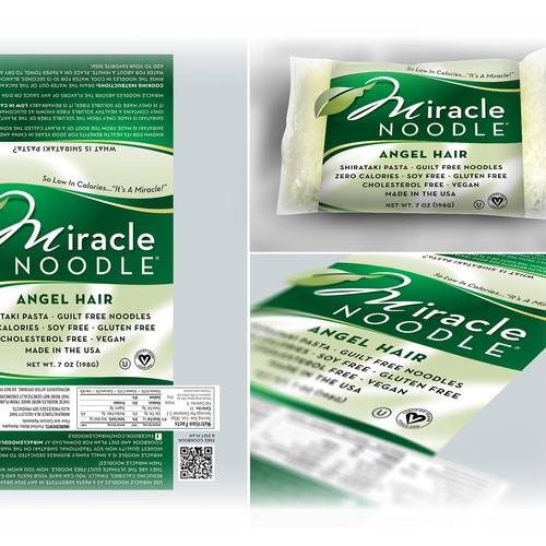 Miracle Noodle needs a new product label