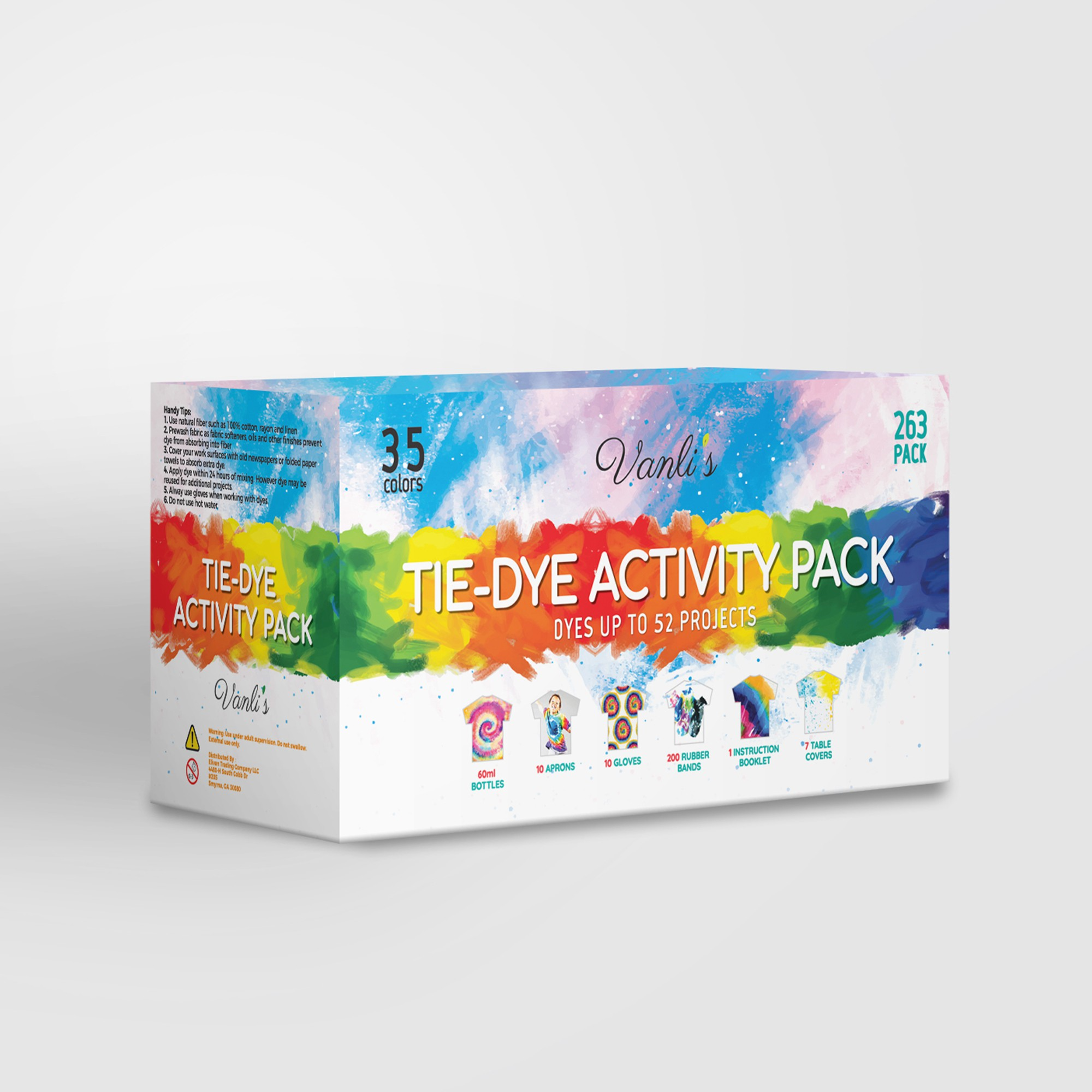 packaging for tie and dye products