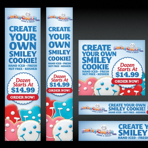 Create the next banner ad for Smileycookie.com