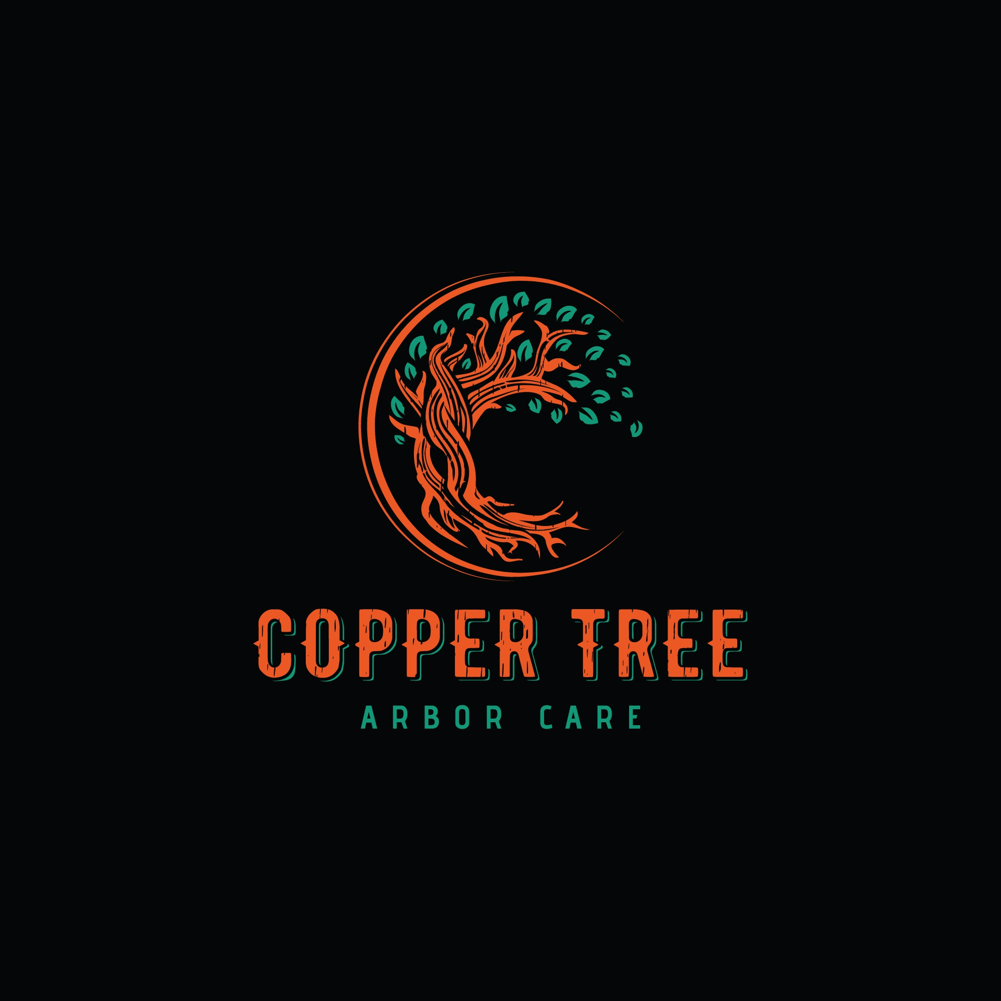 Like to find a cool retro design for a small business tree service that will go with black and orang