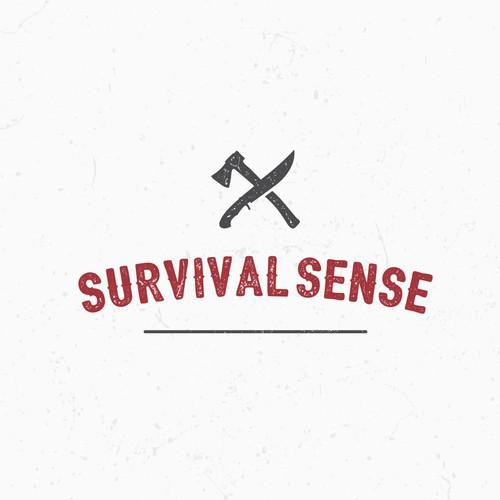 Create a visually appealing logo for Survival Sense