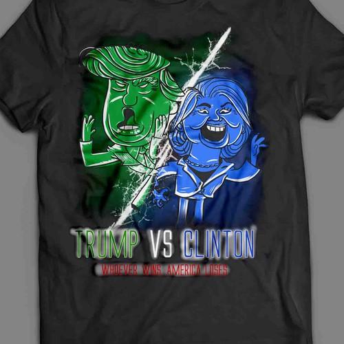 trump vs clintton