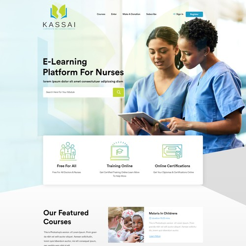 Elearning webpages design
