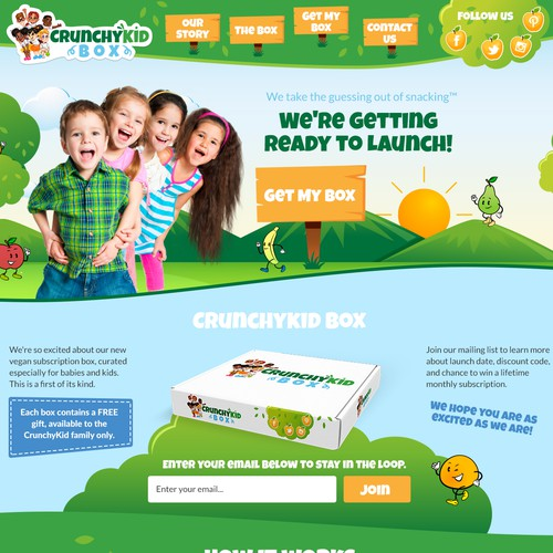 Website for Upbeat and Health Conscious Vegan Kids