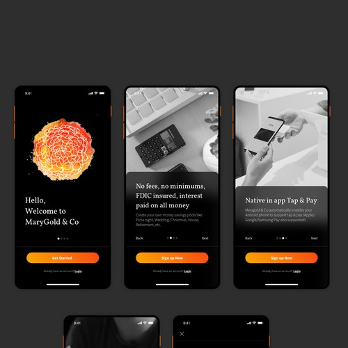 Onboarding app for marygold & co