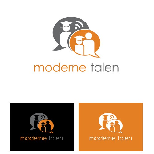 "powerful design for the informative website ""Moderne talen"""