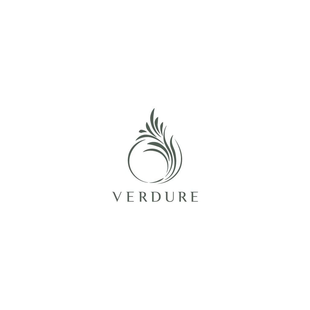 Design a modern minimalist logo for Verdure essential oil
