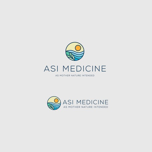 Natural logo for medical company
