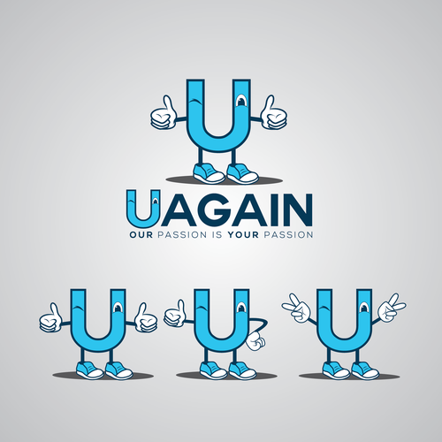 "Logo for ""Uagain"""