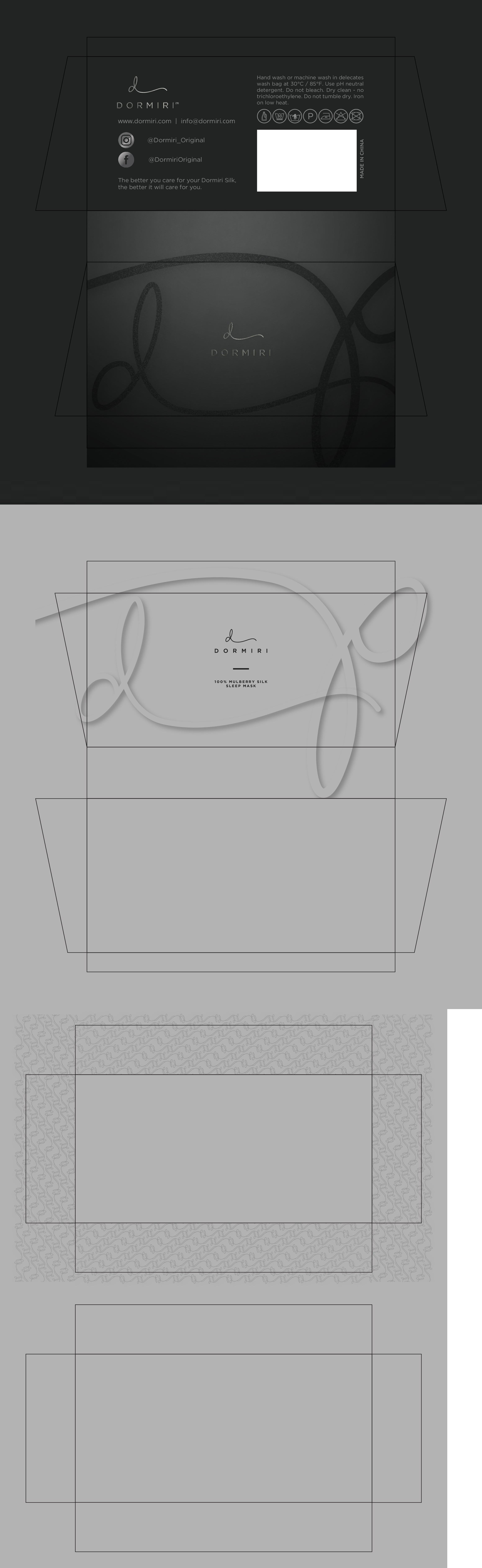 Unique sleek sophisticated packaging for Silk Sleep Mask