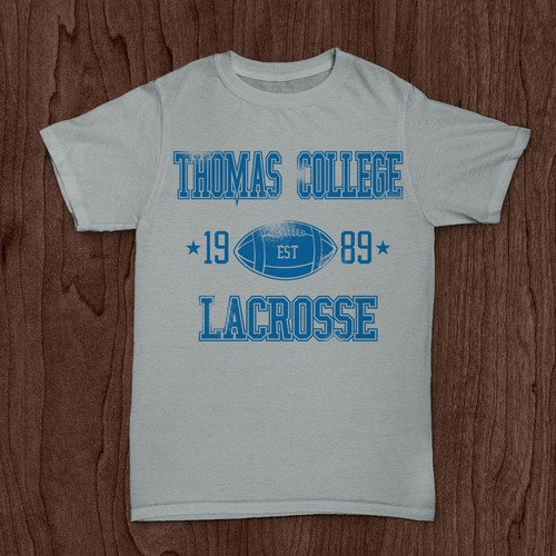 Create simple Collegiate driven t-shirt designs using 1 and 2 colors.