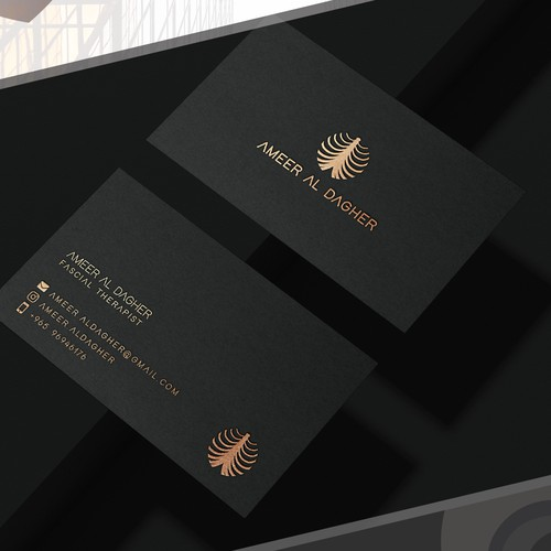 Cool business card for personal brand